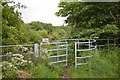 SJ8047 : Kissing gate onto Silverdale Country Park by Jonathan Hutchins