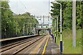 SJ8583 : Southbound platform, Handforth railway station by El Pollock