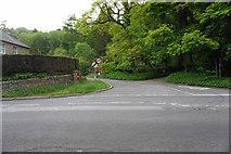 SK2376 : Road junction at Stoke by Bill Boaden