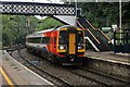 SJ8354 : East Midlands Trains Class 158, 158774, Kidsgrove railway station by El Pollock
