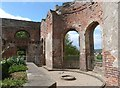 NZ1758 : Just a shell. All that's left of the old orangery, Gibside Hall by Derek Voller