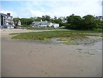 SH5637 : The northern corner of the bay, Borth y Gest by Christine Johnstone