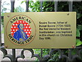 Photo of Squire Boone gold plaque