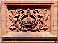 SJ8399 : Manchester Parcel Post Office - Decorated Panel (Crown) by David Dixon