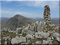 NY2008 : Cairn on Lingmell with view of Great Gable by Gareth James