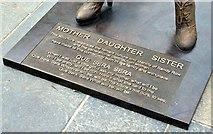 """J3373 : """"Mother Daughter Sister"""" sculpture, Sandy Row, Belfast - June 2015(4) by Albert Bridge"""