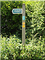 TM1473 : Footpath sign on Park Lane by Adrian Cable
