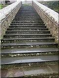 SM7525 : Steps, Cathedral Close, St David's by Derek Harper