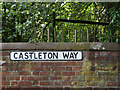 TM1474 : Castleton Way sign by Adrian Cable