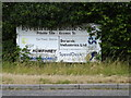 TM1274 : Eye Airfield Estate South sign by Adrian Cable