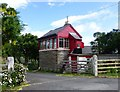 NU0026 : Signal box 'The Crossing' at Haugh Head by Russel Wills
