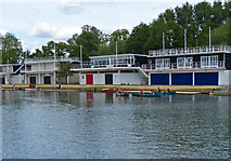 SP5105 : Boat houses along the River Thames by Mat Fascione