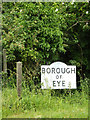 TM1474 : Borough of Eye sign by Adrian Cable