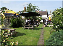 ST8080 : Fox & Hounds beer garden, Acton Turville by Jaggery