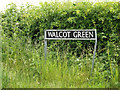 TM1281 : Walcot Green sign by Adrian Cable