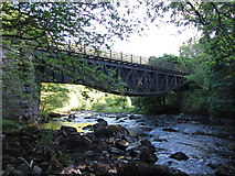 NY2824 : Former railway bridge near Keswick by Gareth James