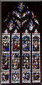 TF0645 : Kempe window, St Denys' church, Sleaford by Julian P Guffogg