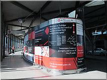 TQ3979 : Art installation, North Greenwich bus station by Stephen Craven