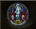 TF0645 : Stained glass window roundel, St Denys' church Sleaford by J.Hannan-Briggs