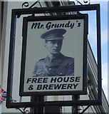 SK3436 : Sign for Mr Grundy's Tavern, Derby by JThomas