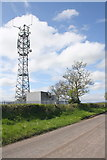NY6720 : Colby Lane by telecoms mast by Roger Templeman