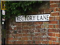 TM3877 : Rectory Lane sign by Geographer