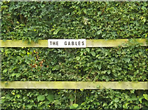 TM3674 : The Gables sign by Adrian Cable