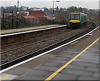 SO8555 : London Midland train arrives at Worcester Foregate Street station by Jaggery