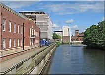 SK3536 : Derby: towards the Silk Mill from Exeter Bridge by John Sutton