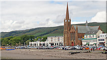 NS2059 : St Columba's Church and Largs seafront by Doug Lee