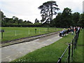 SP4416 : Waiting for a train at Palace Station, Blenheim Park Railway, Woodstock by Jaggery