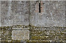 TL7835 : Castle Hedingham: The Norman keep: Stonework detail, north west aspect by Michael Garlick