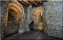 TL7835 : Castle Hedingham: The Norman keep; Storeroom 4 by Michael Garlick