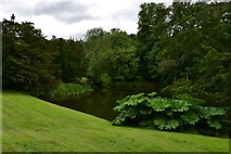 TL7835 : Hedingham Castle and Gardens: The lake by Michael Garlick
