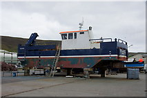 HU4039 : MV Hegrie on Blacks Ness quay, Scalloway by Mike Pennington