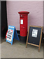 TM0386 : Market Place George V Postbox by Adrian Cable