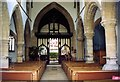 TF0516 : Inside the parish church at Witham-on-the-Hill, near Bourne, Lincolnshire by Rex Needle
