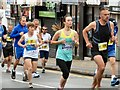SJ9594 : Runners in the Hyde 7 mile road race by Gerald England