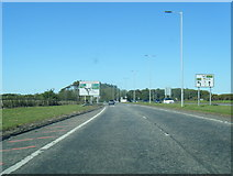 NS3528 : A79 nears Monktonhead roundabout by Colin Pyle