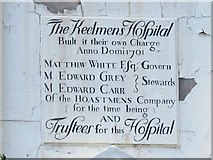 NZ2564 : Plaque on The Keelmens Hospital, City Road, NE1 by Mike Quinn