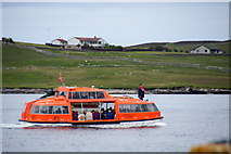 HU4741 : Tender for the cruise ship Marco Polo in Lerwick harbour by Mike Pennington