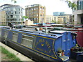 TQ3083 : Narrow boats on the Regents Canal, Kings Cross by Christopher Hilton
