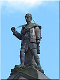 NZ2564 : Statue of a miner on Burt Hall, Northumberland Road, NE1 by Mike Quinn