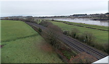 ST5491 : Railway and river near Chepstow by Jaggery