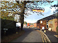 SP0776 : Vehicle entrance to the facilities of Wythall Community Association, Silver Street by Robin Stott