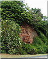 SO7192 : Castle Hill outcrop, New Road, Bridgnorth by Jaggery
