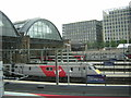TQ3083 : Platform ends at Kings Cross station, from York Way by Christopher Hilton