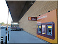 TQ4078 : Sainsbury's, Charlton Riverside: ATMs and trolley park by Stephen Craven