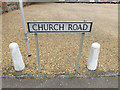 TM0481 : Church Road sign by Adrian Cable
