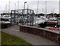 SZ3395 : Fortuna Dinghy Pontoon, Lymington by Jaggery
